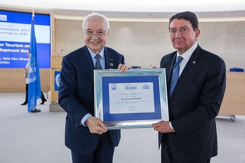 HE Dr. Talal Abu-Ghazaleh appointed a Special Ambassador for International Tourism and Sustainable Development during the Official Closing Ceremony of the International Year of Sustainable Tourism for Development 2017