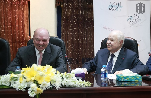 Under the patronage of the President of the Jordanian Senate, HE Mr. Faisal Al Fayez, and in the presence of HE Dr. Talal Abu-Ghazaleh, the book signing ceremony of