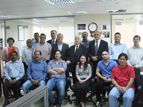 HE Dr. Talal Abu-Ghazaleh meets participants in a VAT training program held in Abu Dhabi
