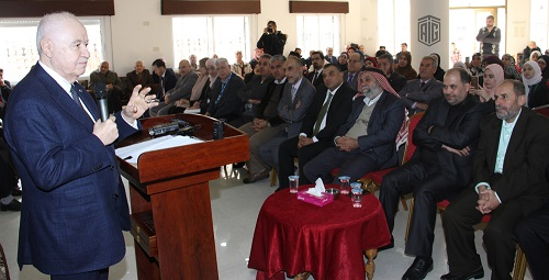 HE Dr. Talal Abu-Ghazaleh opens a knowledge center at Hidaya Center for Community Training in Irbid Camp and meets representatives of government entities and civil society