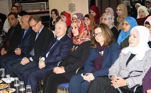 HE Dr. Talal Abu-Ghazaleh patronizes the honoring ceremony of the distinguished students and participants in the program of Integration of Media & Information Literacy Education in the Learning process in UNRWA schools
