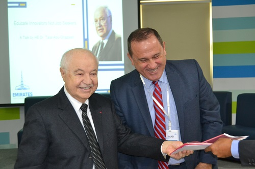 Abu-Ghazaleh a Guest of Honor at Emirates Higher Education Summit at American University in Dubai