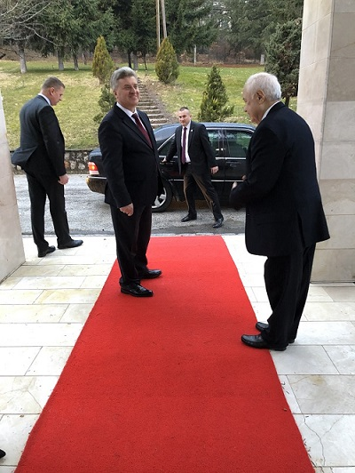 President of the Republic of Macedonia Hosts Dr. Abu-Ghazaleh As a Guest of Honor
