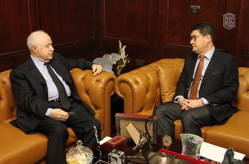 HE Dr. Talal Abu-Ghazaleh receives the Hungarian Ambassador to Jordan HE Mr. Csaba Czibere