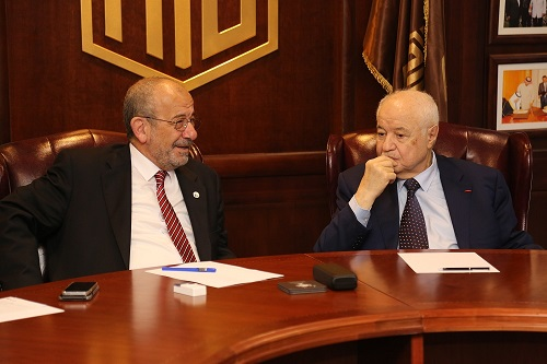 HE Dr. Talal Abu-Ghazaleh and President of the Jordan Engineers Association Eng. Majed Al- Tabba