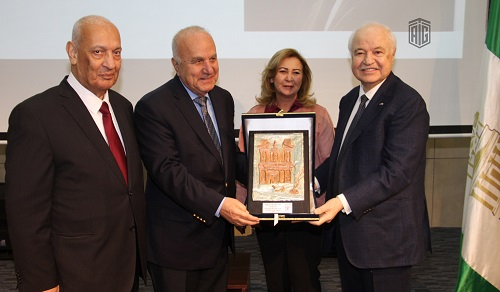 "HE Dr. Talal Abu-Ghazaleh gives a lecture to Petra University students entitled ""Creative Education is the Only Means to Make Wealth in the Future"" under the patronage of the University President Dr. Marwan Mullah and attended by the Higher Chancellor of"