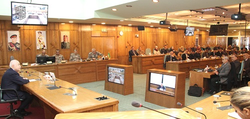 HE Dr. Talal Abu-Ghazaleh lectures at the Royal Jordanian National Defense College