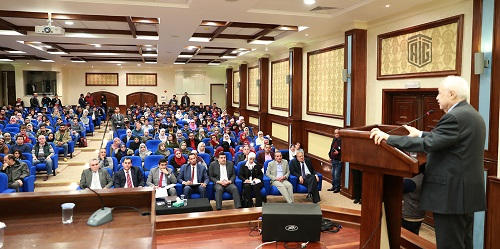 HE Dr. Talal Abu-Ghazaleh meets students of Al-Balqa Applied University in the presence of the University President Dr. Abdullah Al-Zu