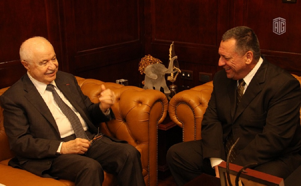 Abu-Ghazaleh discusses with the Venezuela Ambassador Office Launch