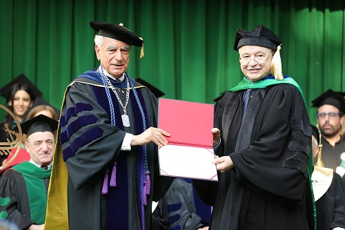 HE Dr. Talal Abu-Ghazaleh delivers the graduation speech at the Lebanese American University (LAU) Annual Commencement Exercises, Receives Honorary Doctorate Degree  in Humane Letters