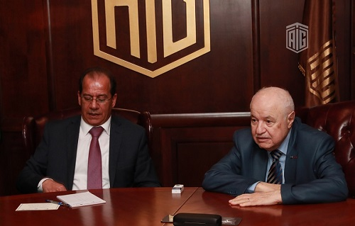 HE Dr. Talal Abu-Ghazaleh and Mr. Faisal Al Shboul, director general of Jordan News Agency (Petra), discuss the role of media in developing economy and attracting investments
