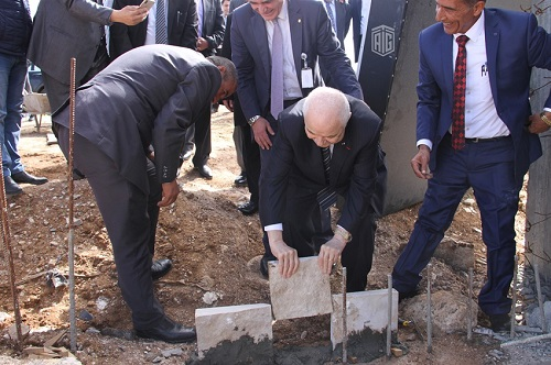 HE Dr. Talal Abu-Ghazaleh lays the foundation stone for the new location of Emaar Moaab Foundation in Karak