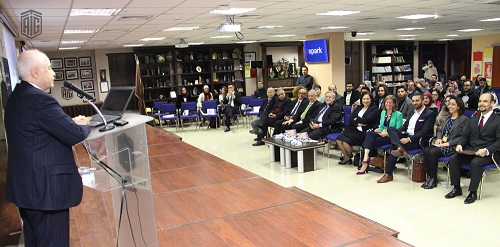 "HE Dr. Talal Abu-Ghazaleh patronizes an interactive session entitled ""Doing Business in Post Conflict Conditions"" in cooperation with SPARK"
