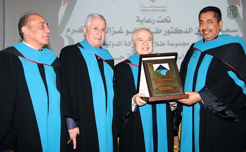 HE Dr. Talal Abu-Ghazaleh patronizes graduation ceremony the 8th batch of Jadara University students