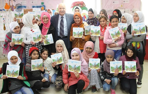 HE Dr. Talal Abu-Ghazaleh visits the Zaatari Refugee Camp to address and support its educational needs