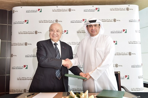 Talal Abu-Ghazaleh Organisation (TAG-Org) and the Department of Economic Development (DED), Dubai, sign a partnership agreement to offer added value packages to the business community and develop the services provided at DED's Dubai Business Club