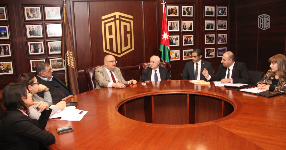 HE Dr. Talal Abu-Ghazaleh, and HE Eng. Sami Halaseh, Minister of Public Works and Housing, discuss a plan for housing solutions in Jordan