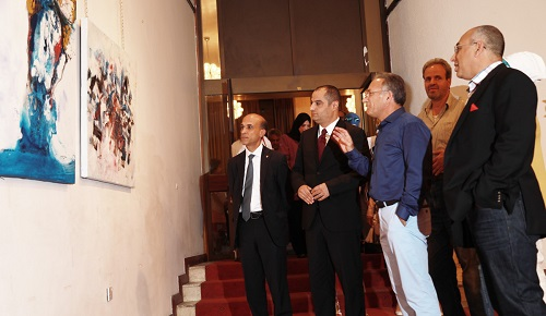 HE Dr. Talal Abu-Ghazaleh patronizes the opening ceremony of Walid Al-Tamimi's art exhibition at the Royal Cultural Center