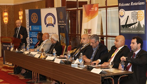 Rotary Clubs in Jordan Host Abu-Ghazaleh to Discuss Role of Economy in Community Development