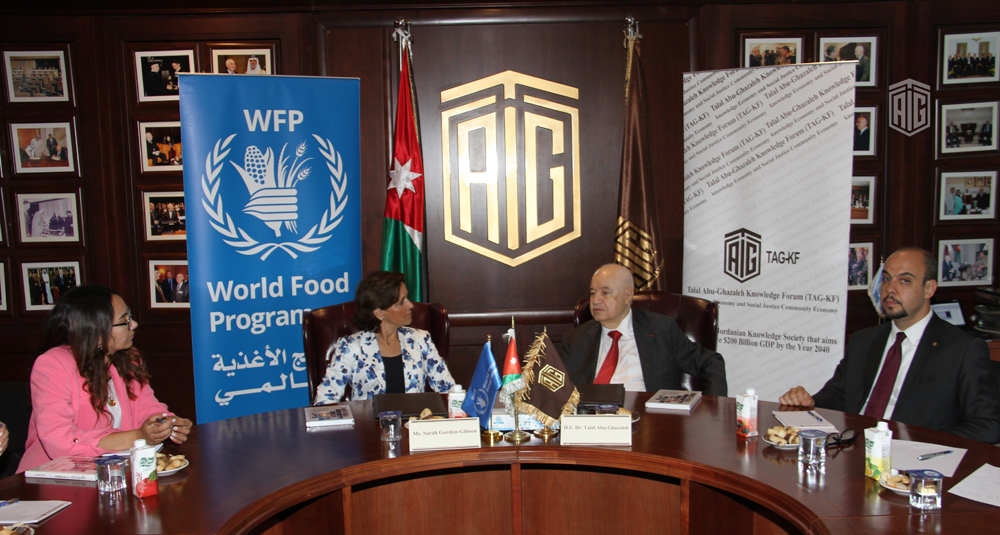 WFP and TAG Knowledge Forum establish partnership