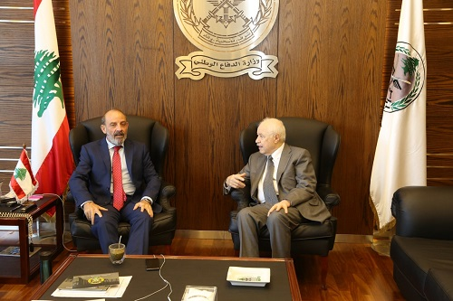 Lebanon's National Defense Minister Receives Abu-Ghazaleh